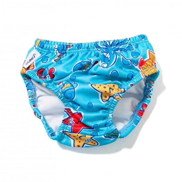 Pannolino piscina azzurro riutilizzabile lavabile