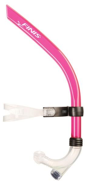 Boccaglio respiratore frontale snorkel rosa Finis
