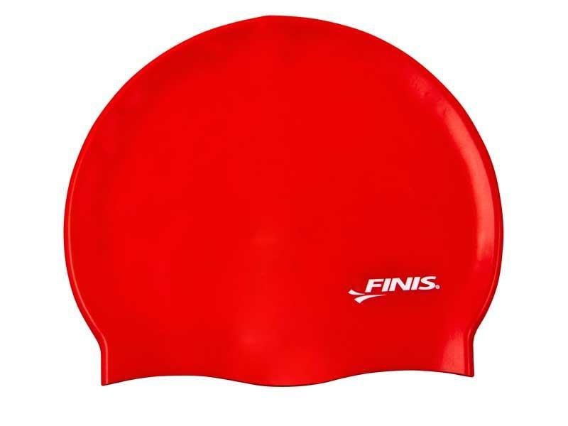 Cuffia in silicone FINIS rossa